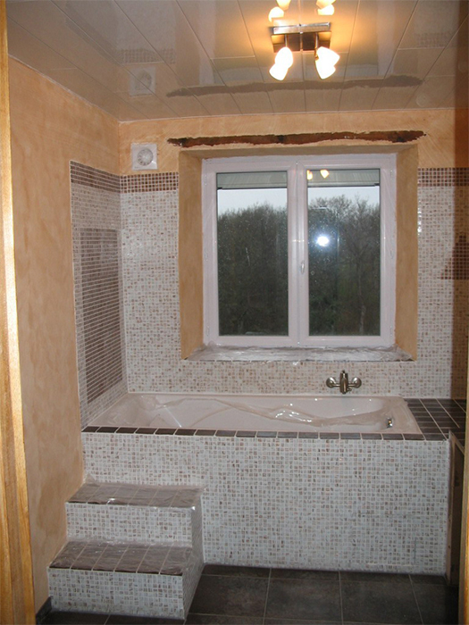 travaux salle de bain. Black Bedroom Furniture Sets. Home Design Ideas