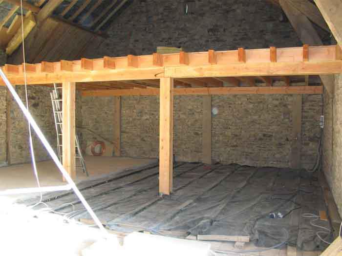 D but des travaux l 39 tage for Plancher bois pour mezzanine